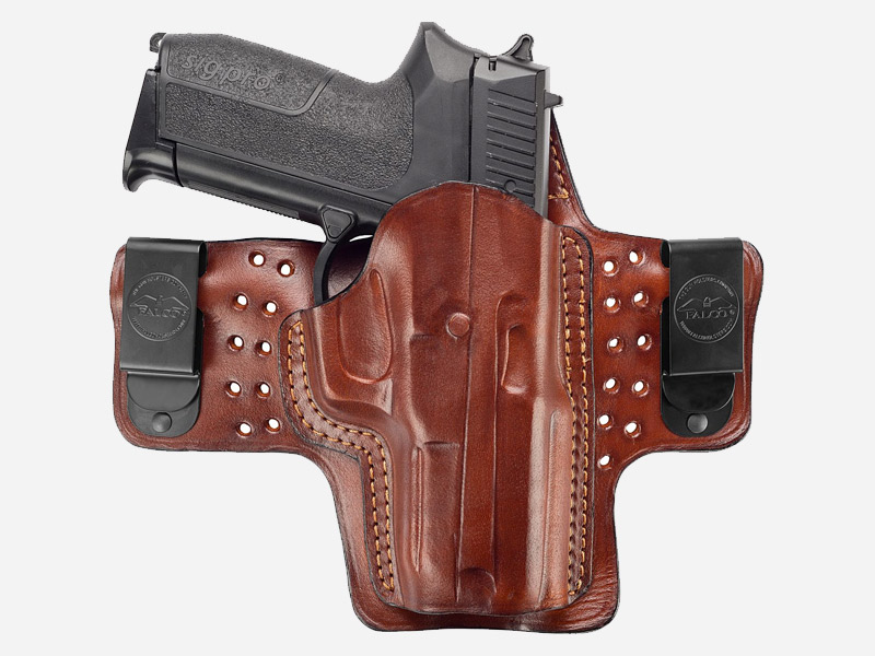 LEATHER IWB HOLSTER W. AIR FLOW PLATFORM